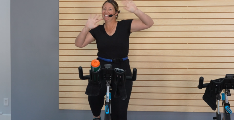 high-tempo beat-based Indoor Cycling Class shut up and dance cycle