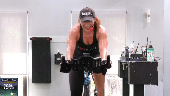 hard-working indoor cycling class online Work It w/ Olga
