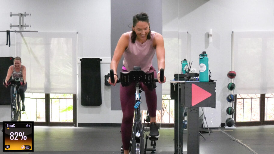 cycling class with progression intervals HIIT Progressive Intervals