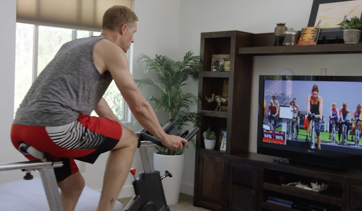indoor cycling at home workout