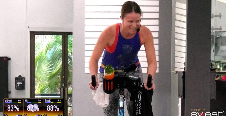 30-minute half cycle, half sculpt workout 50/50 Bike to Floor