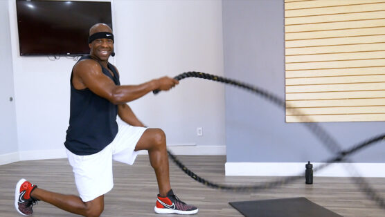 best battle rope and core workout Battle Ropes & Abs