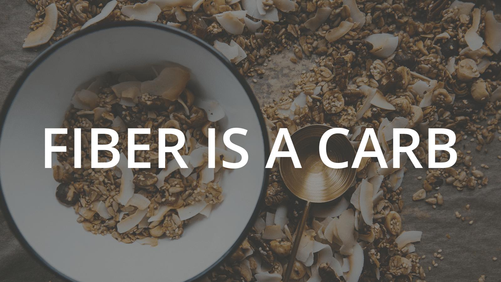 fiber is a carb article