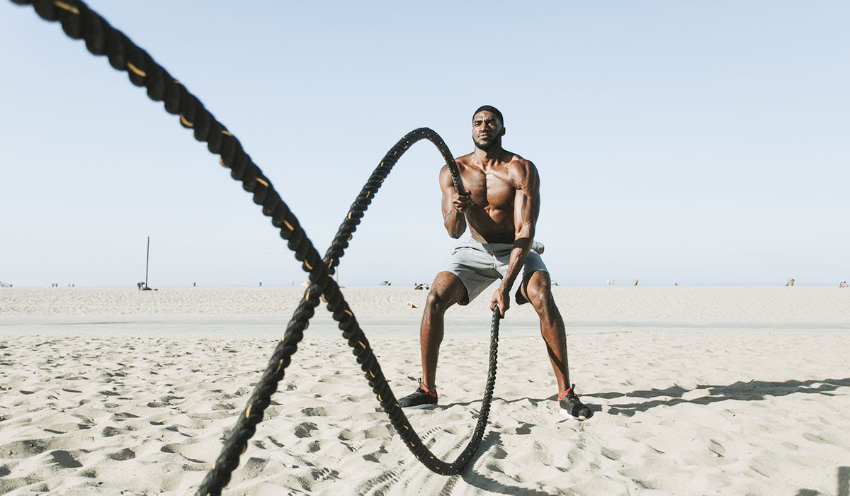conditioning with battle ropes