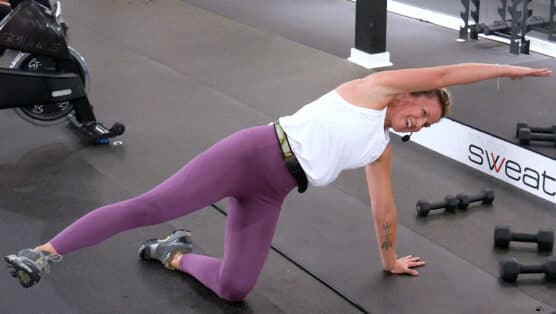 quick workout targeting your core and glutes Booty Toner + Ab Burner